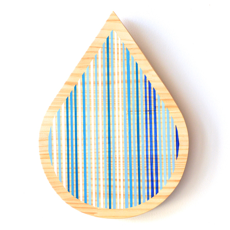 hi-dutch Original Paint on Wood Water Drop