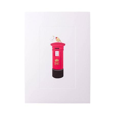 Mount Street Printers Postbox on Robin Christmas Card