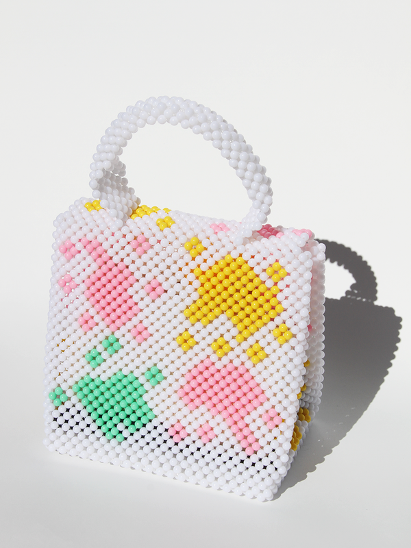 Lisa Folawiyo Plain Top Handle Bag - White/Green/Pink/Yellow