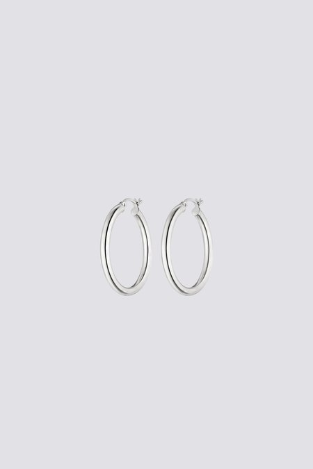 Nina Kastens Large Hoops - Sterling Silver