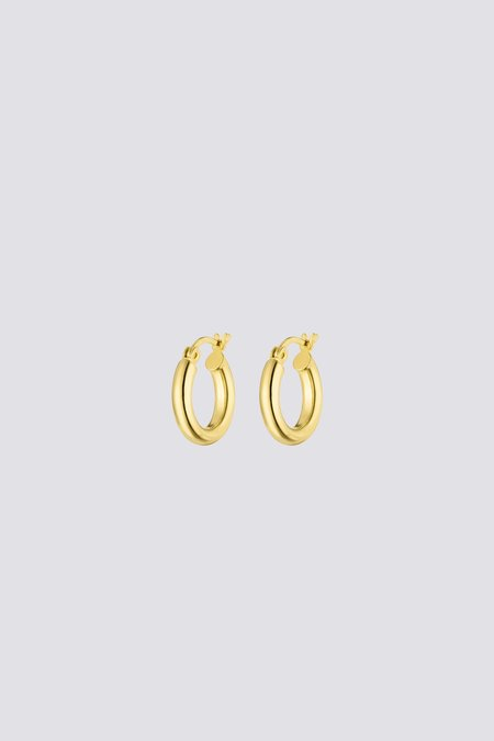 Nina Kastens Small Hoop Earrings - Gold