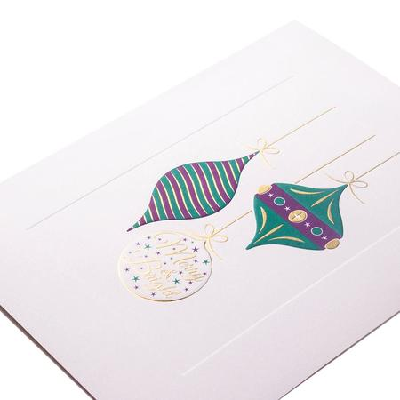 Mount Street Printers Merry & Bright Baubles Christmas Card