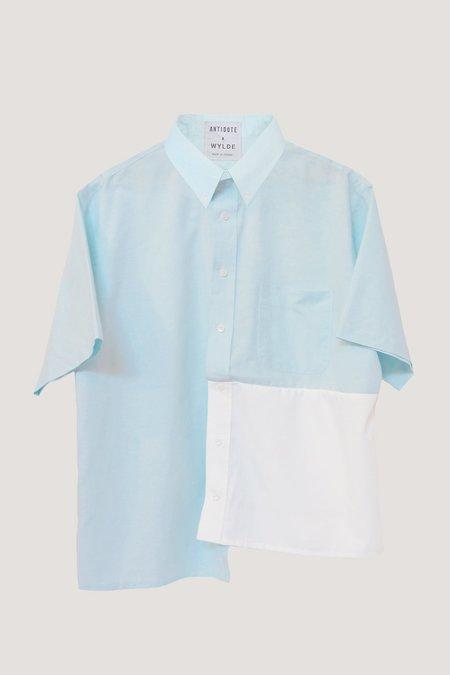 Antidote Open Back Shirt - Aqua