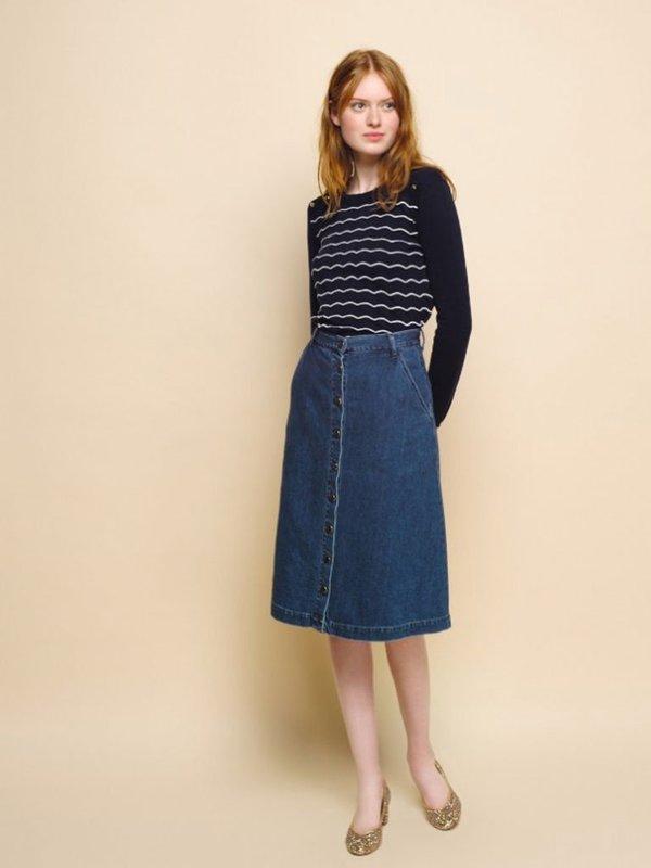 Des Petit Hauts Lupsi Denim Skirt - Blue