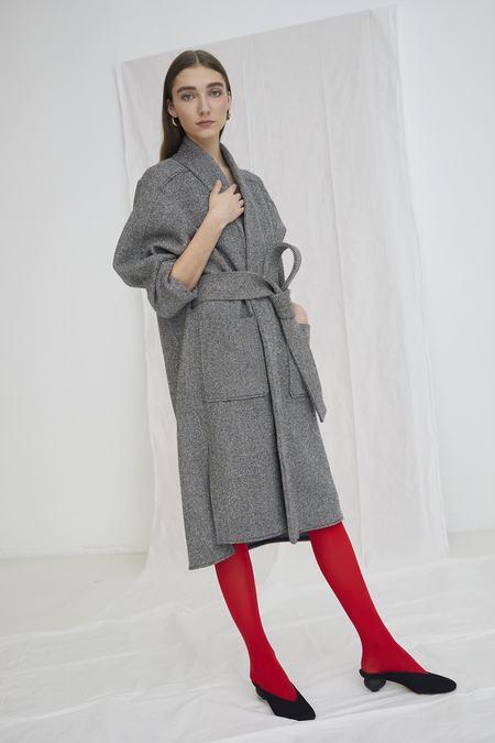 Whit Kimono Coat - Rainbow Speckled Herringbone