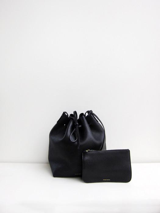 Bucket Bag, Tumbled, Black