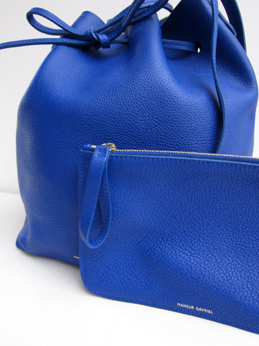 Bucket Bag, Tumbled, Royal