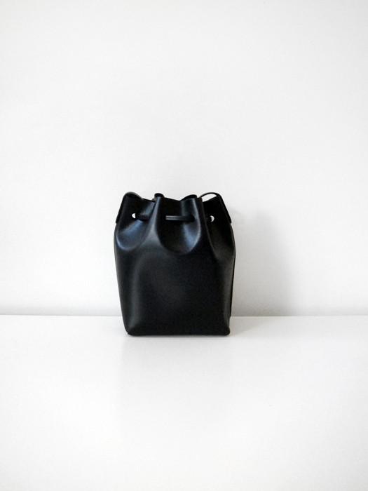 Mini Bucket Bag, Black/Graffite