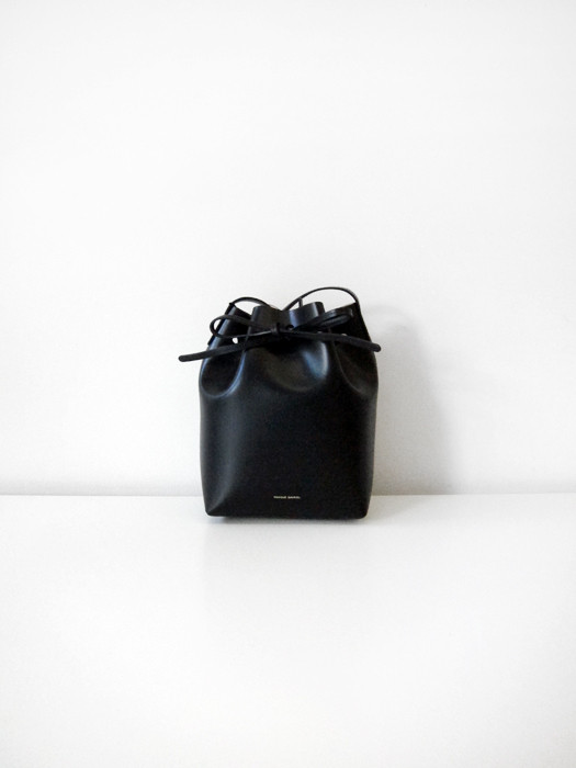 Mini Bucket Bag, Black/Royal