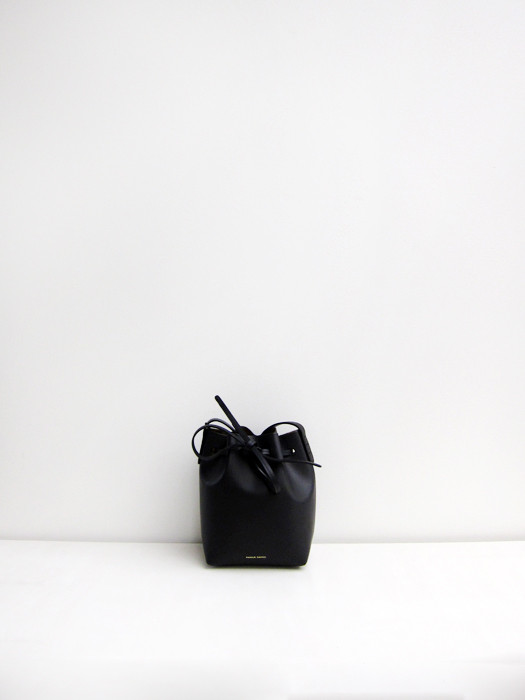 Mini Mini Bucket Bag, Black/Gold