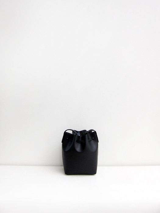 Mini Mini Bucket Bag, Black/Silver
