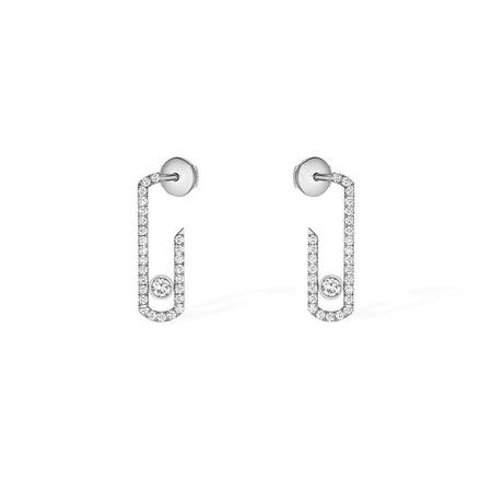 Messika Gigi Hadid Collection Addiction Pave Earrings with Diamonds - 18k White Gold