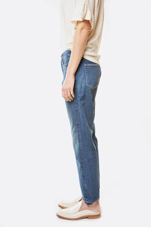Chimala Special Selvedge Used Cut Ankle Jeans - Medium Vintage