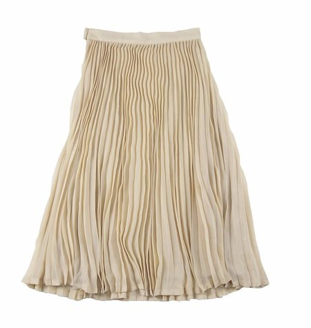 KIDS Feather Drum Ava Pleated Maxi Skirt - YELLOW