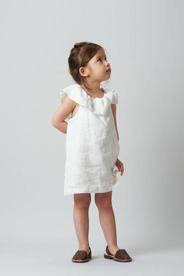 KIDS Belle Enfant Bardot Off-The-Shoulder Dress - WHITE