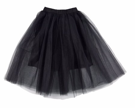 KIDS Feather Drum Beatrice Maxi Tulle Skirt - BLACK