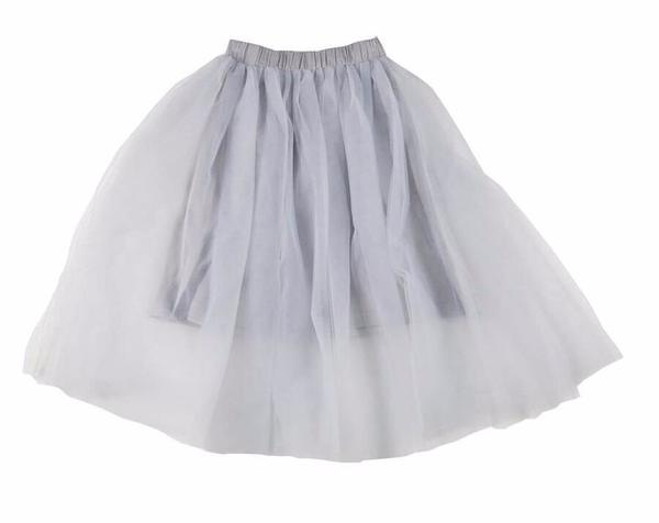 ebbc3de78feb KIDS Feather Drum Beatrice Maxi Tulle Skirt - BLUE/Grey | Garmentory