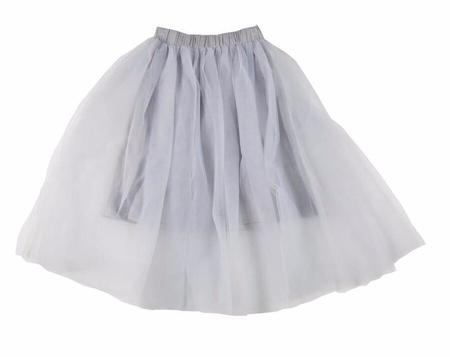 KIDS Feather Drum Beatrice Maxi Tulle Skirt - BLUE/Grey