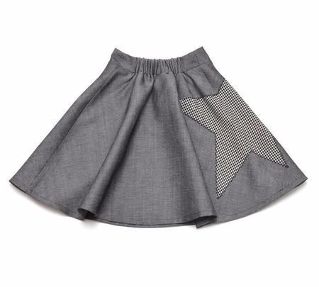 KIDS LITTLE MAN HAPPY Black Star Midi Skirt