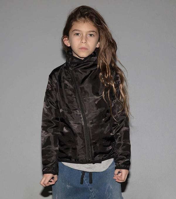 KIDS Nununu Camouflage Jacket - BLACK
