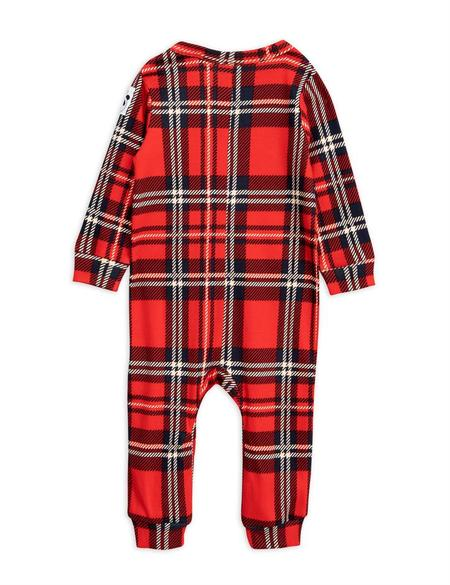 KIDS Mini Rodini Check Jumpsuit - RED