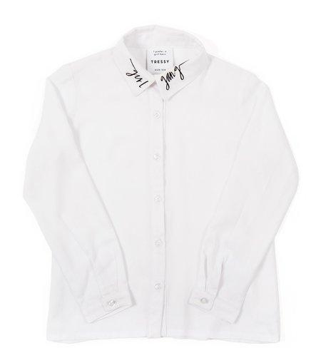 KIDS TRESSY Cheryl Girl Gang Shirt - WHITE