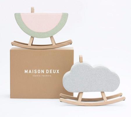 KIDS Maison Deux Cloud Rocking Horse - GREY
