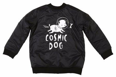 KIDS KUKUKID Cosmic Dog Bomber Jacket - BLACK