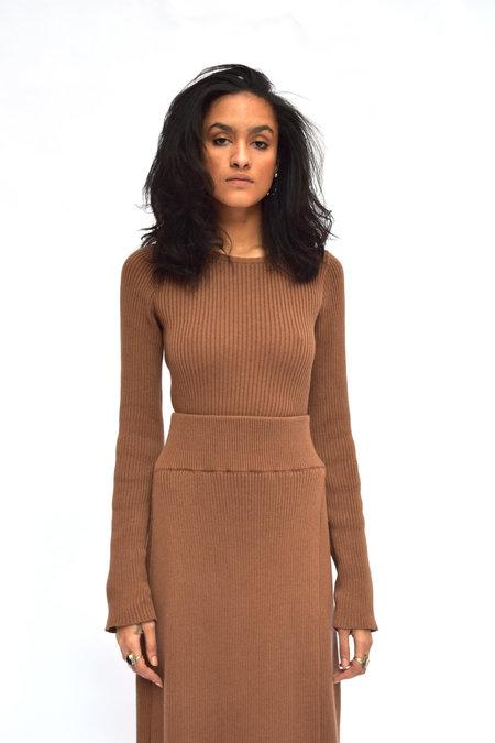 Pari Desai Dani Fitted Ribbed Sweater - Ginger