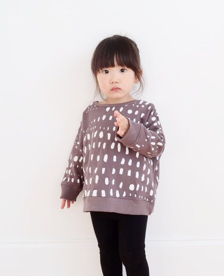 KIDS KID + KIND Dots in a Row Oversized Sweatshirt