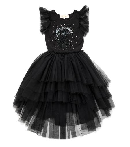 KIDS Nununu Embroidered Tutu Dress - BLACK