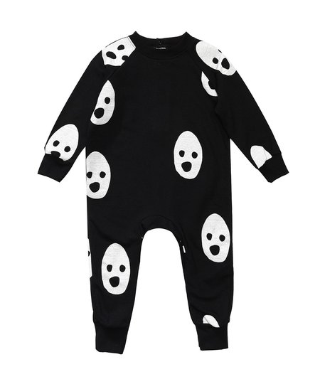 KIDS Beau Loves Ghosts Romper - Black