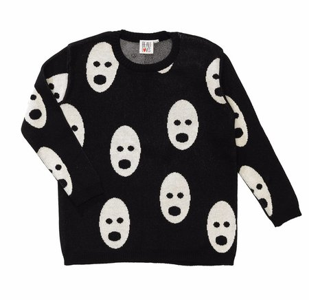 KIDS Beau Loves Ghosts Sweater - BLACK