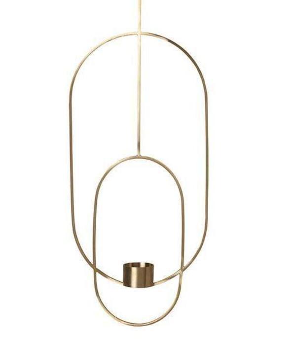Ferm Living Hanging Brass Oval Tea Light