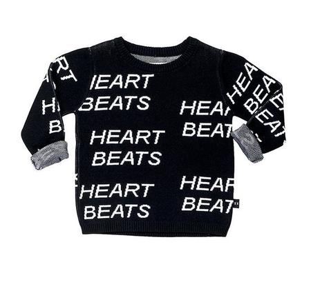 KIDS Huxbaby Heartbeat Knit Jumper - BLACK