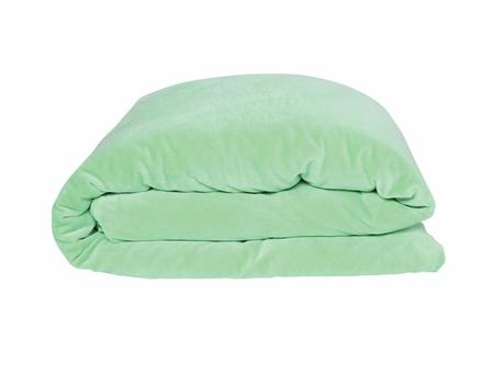 KIDS KIP & CO Honeydew Velvet Twin Duvet - HONEYDEW GREEN