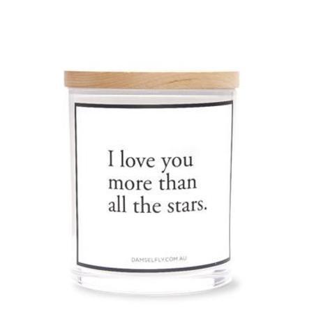 Damselfly I Love You Candle