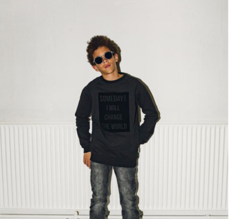 KIDS SOMEDAY SOON Ivan Crewneck Sweater - BLACK