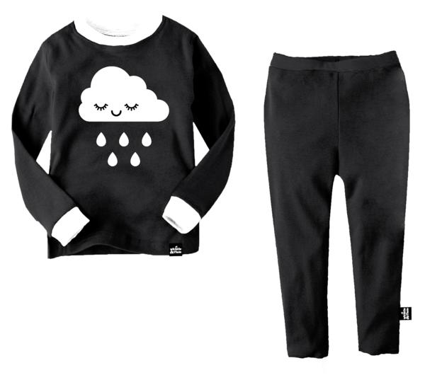 08ba34f5c8e2cb KIDS WHISTLE & FLUTE Kawaii Sleepy Cloud Pajama Set - BLACK/WHITE. sold  out. WHISTLE & FLUTE