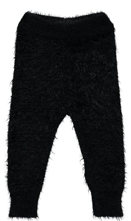 KIDS Beau Loves Knit Furry Pants - BLACK
