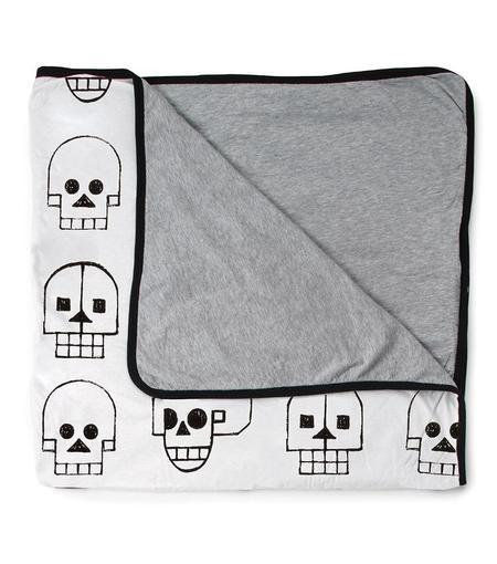 KIDS Nununu Large Skull Robot Blanket - WHITE