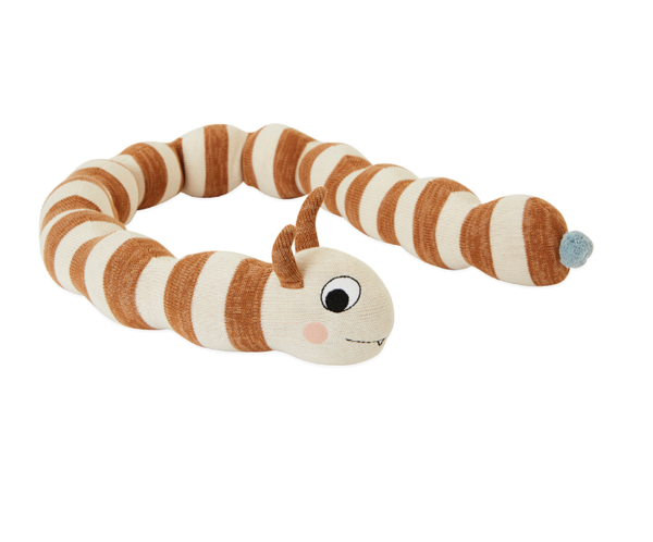 KIDS OYOY Leo the Larva Giant Knit Doll