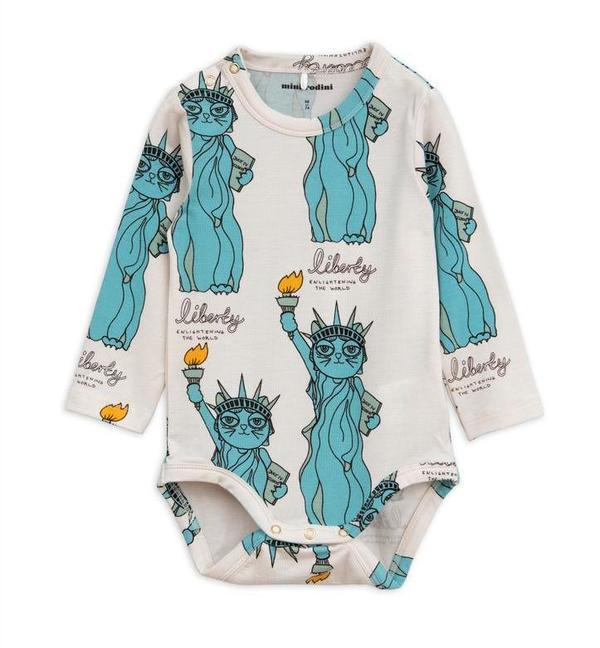 KIDS Mini Rodini Liberty Long Sleeve Bodysuit