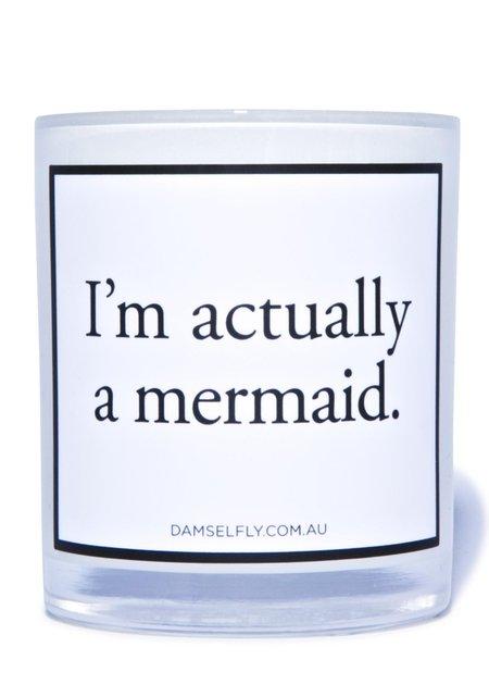 Damselfly Mermaid Candle