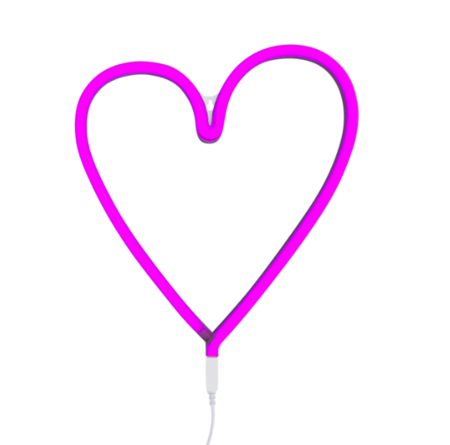 KIDS A Little Lovely Company Neon Style Heart Light - PINK