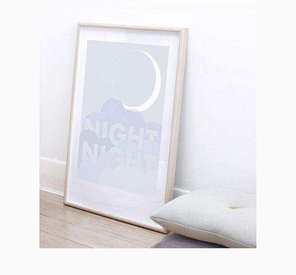 KIDS FRIDAY & TODAY Night Night Print