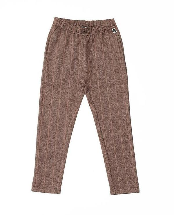 KIDS MAINIO Pinstripe Sweatpants - Brown