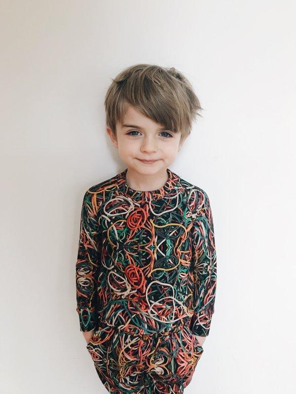 KIDS Romey Loves Lulu Rubber Bands Sweatpants