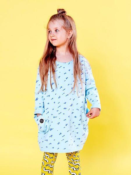 KIDS MAINIO Scratch Dress - LIGHT BLUE