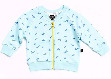 Kids MAINIO Scratch Sweat Jacket - LIGHT BLUE